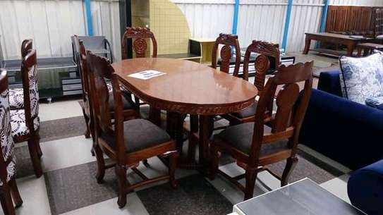 Solid mahogany dining tables(6 seaters) image 4