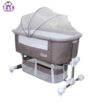 Portable Baby Travel Cot Basinet Side Sleeping Bassinette 110 X 56 X 78cm for 0-24 Months Baby image 1