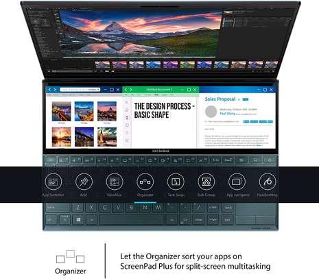 "ASUS ZenBook Duo UX481 Laptop, 14"" FHD NanoEdge Bezel Touch, Intel Core i7-10510U, GeForce MX250, 16GB RAM, 1TB PCIe SSD, Innovative ScreenPad Plus image 2"