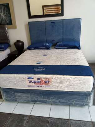4 by 6 Spring Mattress plus Bed. We deliver. image 1