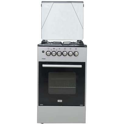 Official Store Mika MST50PU31SL,Standing Cooker, 50cm X 50cm, 3 + 1, Silver image 1