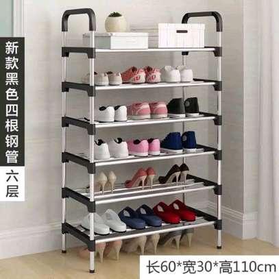 6 layer portable shoe rack image 1