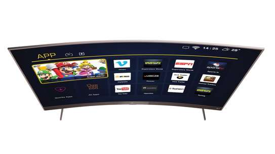 49 Inch TCL Smart and Digital Curved LED TV – Inbuilt Wi-Fi - Model 49P1CFS image 1