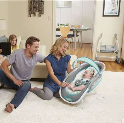 Baby InGenuity 2in1 InReach Mobile convertible lounger & bouncer with wheels & MP3 image 4