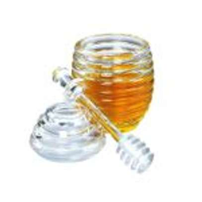Acrylic honey jar with Dipper image 2