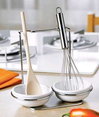 *Fancy 2in1Laddle holder with ceramic bowl holders image 2