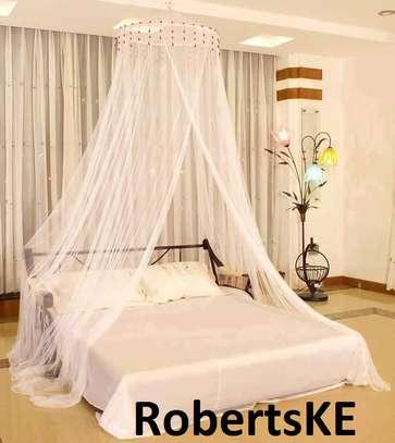 white round  mosquito net image 1