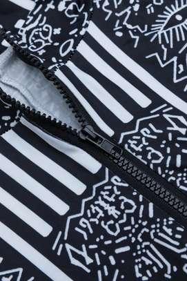 Fashion RK Black Round Neck Zip-up Stretch-African Jumpsuits image 6