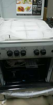 Mika Standing Cooker, 50cm X 50cm, All Gas, Gas Oven, White Black image 2