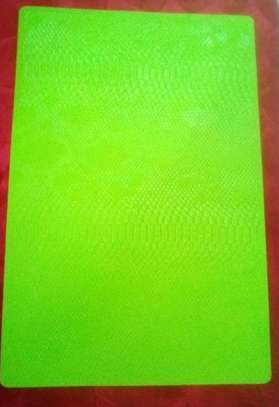 Leather table mat green 1pc image 1