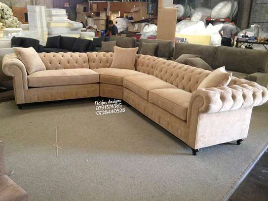 Chesterfield L shaped sofa/six seater L shaped sofa image 1