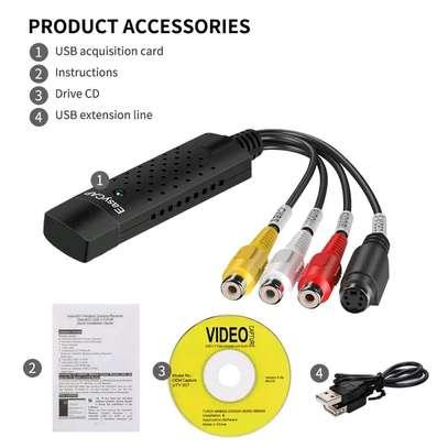 Easycap USB 2.0 Easy Cap Video VHS TV DVD DVR Video Capture Adapter image 1