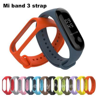 Replacement Silicone Sports Soft Wrist Strap Bracelet Wristband for XIAOMI Mi Band 3/4 image 1