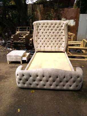 Majestic Gorgeous Timeless Quality 5by6 Upholstered Bed image 1