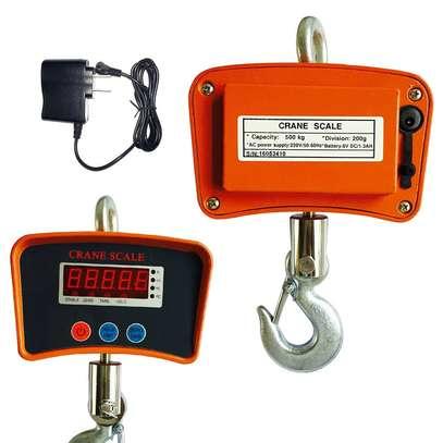 500KG Digital Hanging Scale Crane Scale Heavy Duty Industrial LCD Display 1100LB image 1