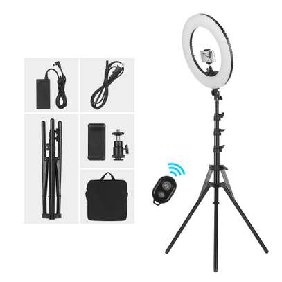 LED 18''  Ring Light with Light Stand, Dimmable & Color Temperature image 1