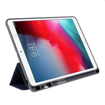 MUTURAL Auto Wake Sleep Stand Smart Leather Tablet Case for iPad 10.2 With Pencil Holder image 4