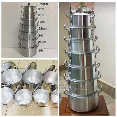Generic 14 Pieces Heavy Aluminium Cooking Pot Sufuria Set image 2