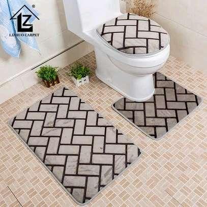 Toilet mat set image 1