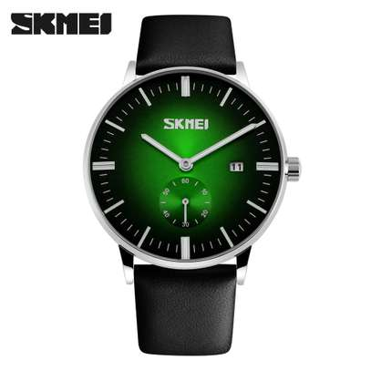 Skmei Mens Luxury Casual Leather Watch 9083 - Blue image 2