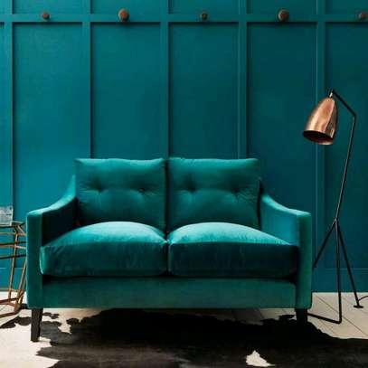 Modern blue sofas for sale in Nairobi Kenya/two seater sofas/English seats image 1
