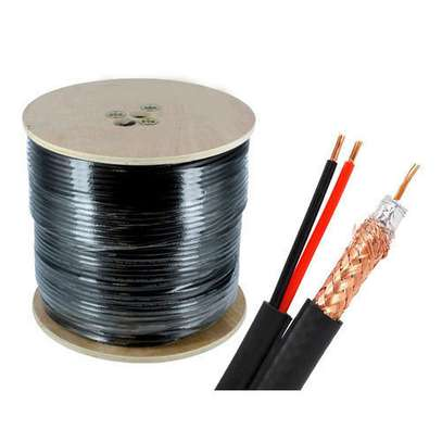 Rg59 Coaxial Cable With Power 200mtrs image 1