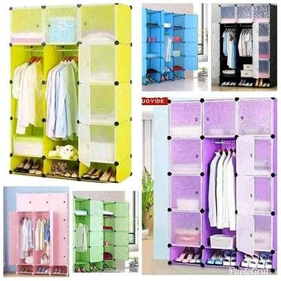 4 column plastic wardrobe image 7