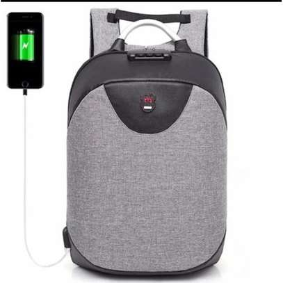 Antitheft Bags With USB Charging Port - Grey