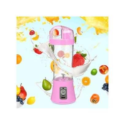 USB Rechargeable Portable Blender - Hand Held Fruit Juicer Smoothie Maker Bottle-Pink image 1