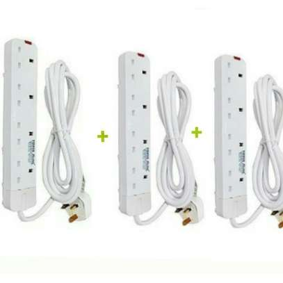Power King 3 Pcs 4 Way Extension Cable. image 1