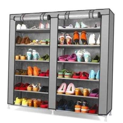 Portable shoe rack - Grey image 1