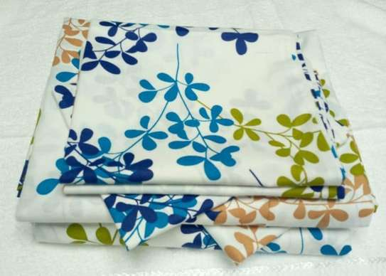 bed sheets blue flowery image 1