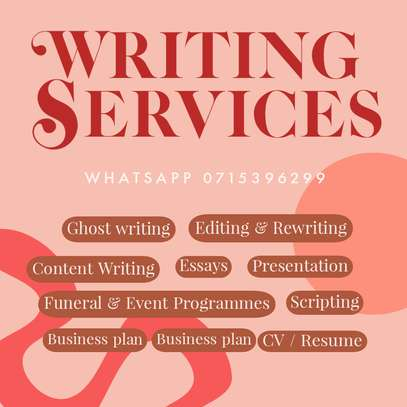 Writing and editing services