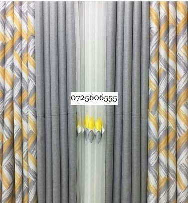 2 SIDED HEAVY FABRIC CURTAINS image 1