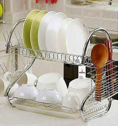 2 tier dish rack stainless steel image 1