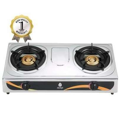 Nunix Gas Stove Stainless Steel Double Burners SS-001 image 1