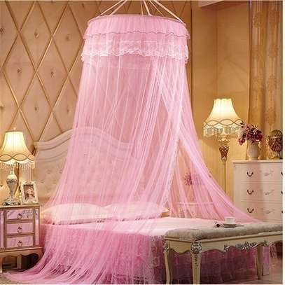 Round Mosquito Net Free Size For Double Decker And All Types Of Beds - Pink