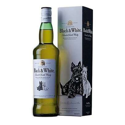 Black & White Blended Scotch Whiskey - 750ml