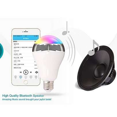 LED Light Bulb with Speaker Bluetooth Smart Music Bulb - Multi-Color image 2