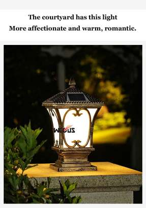 Solar pillar outdoor post lights image 7
