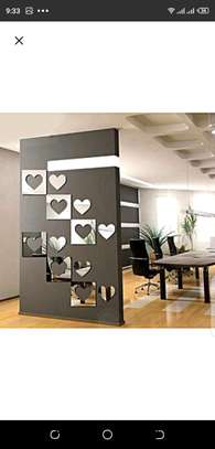 Wall mirror sticker deco