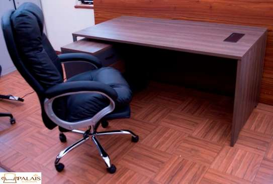 Richard 1.6m Office Desk With Side Cabinet & Chair Combo image 1
