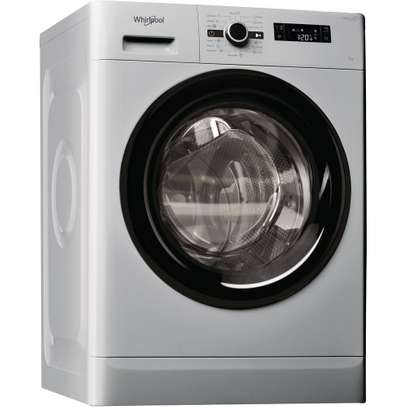 Whirlpool FWF71253SB Washing Machine Front Load, 7KG - Silver