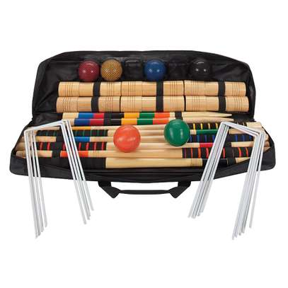 Baden 6-Player Champions Croquet Set with Soft Grip Handles image 1