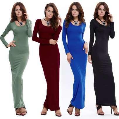 Long sleeved maxi dress image 1