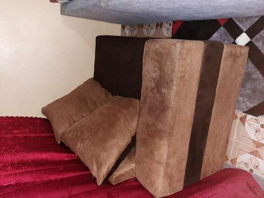 2 seater brown sofa image 2