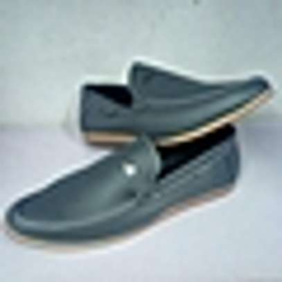 Generic Grey Slip On Official Men's Shoes image 1