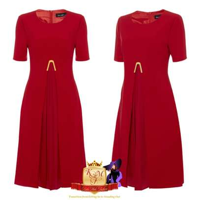 Front Pleats Detailed Shift Dress