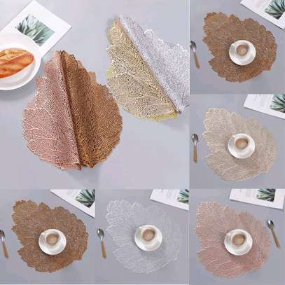 *New classy pvc leaf shape  tablemats image 1