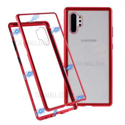 Magnetic Luxury Cases For Samsung Note 10 Note 10 Pro With Tempered Back Glass image 4